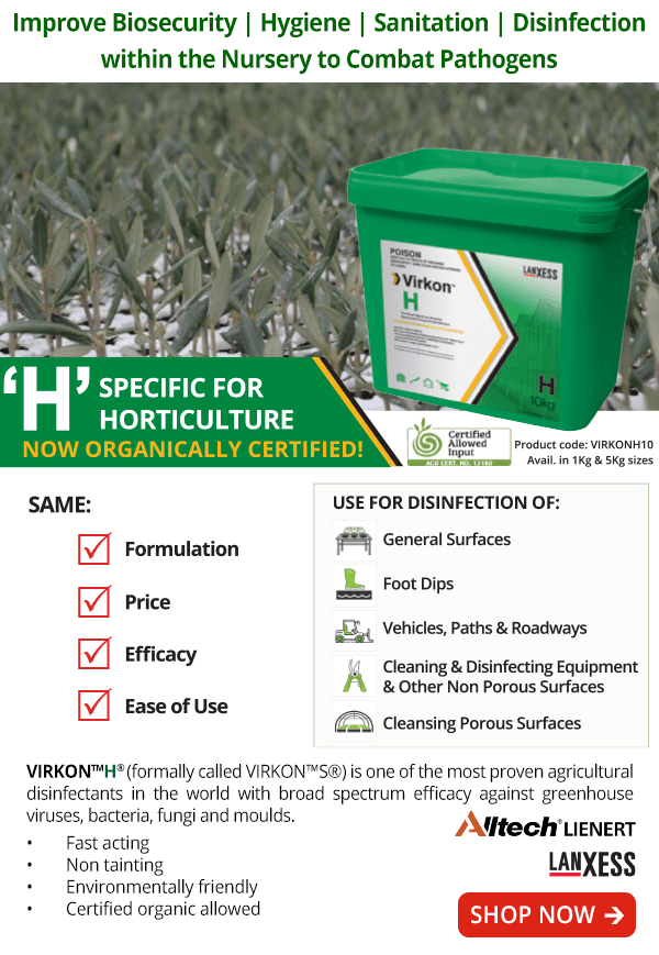 Virkon H - Disinfectant Specific for Horticulture